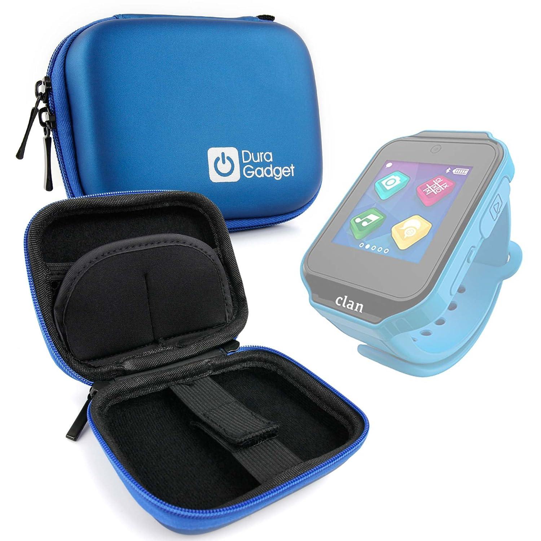 DURAGADGET Excelente Funda Rígida Azul para Reloj de niño CEFATRONIC - Smartwatch Clan (105) - con Mini Mosquetón