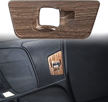 Wood Grain Rear Window Lift Panel Switch Covers Button Trim for Ford F150 2015 2016 2017