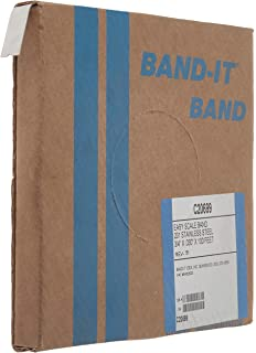 BAND-IT C40699 316 Stainless Steel Uncoated Band 3//4 Width X 0.030 Thick 100 Feet Roll
