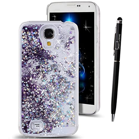 Funda para Samsung Galaxy S4 I9500 , SMART LEGEND Dual Layer 3D Líquido Glitter Glitter Shiny Gloss Sparkle Clear Dynamic Quicksand Case Cover Skin ...
