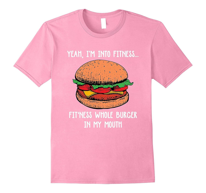c2bea32b85 Fitness Burger Tshirt Cheeseburger Sport T-Shirt-ANZ ⋆ Anztshirt