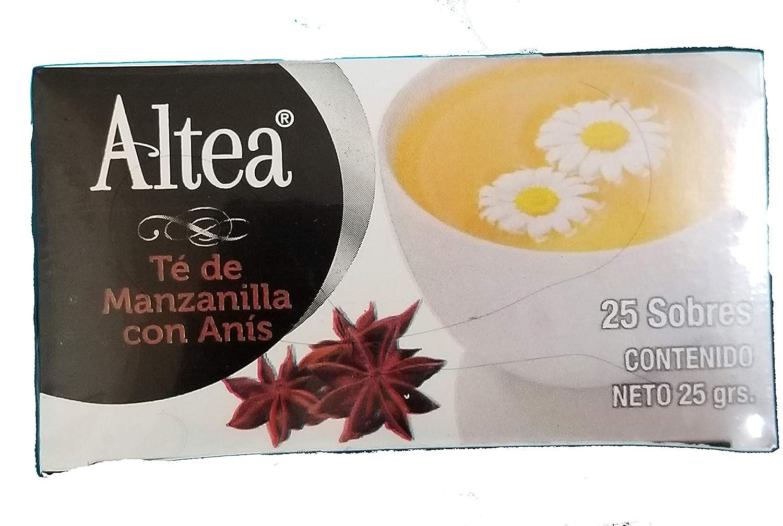 Té Altea Manzanilla Y Anis Chamomile Con Anisse Tea 1 Caja 25 Unidades Grocery Gourmet Food