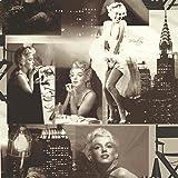 Galerie - Papier Peint Noir / Blanc - 12101209 - Motif Marilyn Monroe