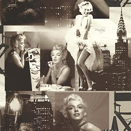 6d0140f253a Marilyn Monroe Wallpaper Black and White  Amazon.co.uk  DIY   Tools