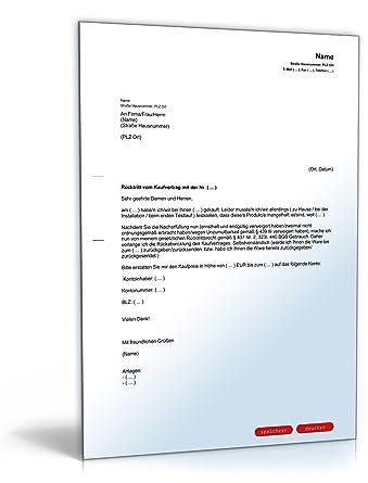 Rücktritt Kaufvertrag [PDF Download]: Amazon.de: Software