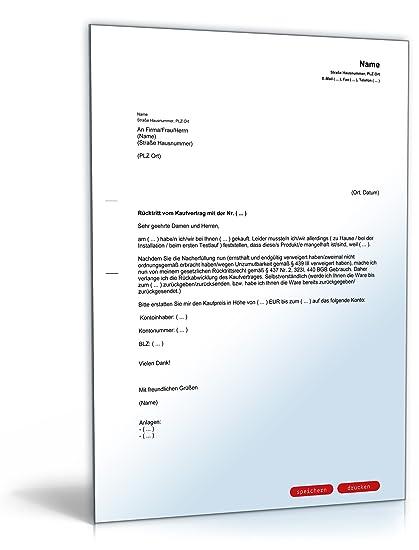Rücktritt Kaufvertrag Pdf Download Amazonde Software