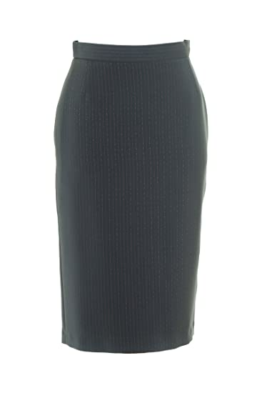 9d725ee8f8 Busy Clothing Womens Grey Pinstripe Pencil Skirt: Amazon.co.uk: Clothing