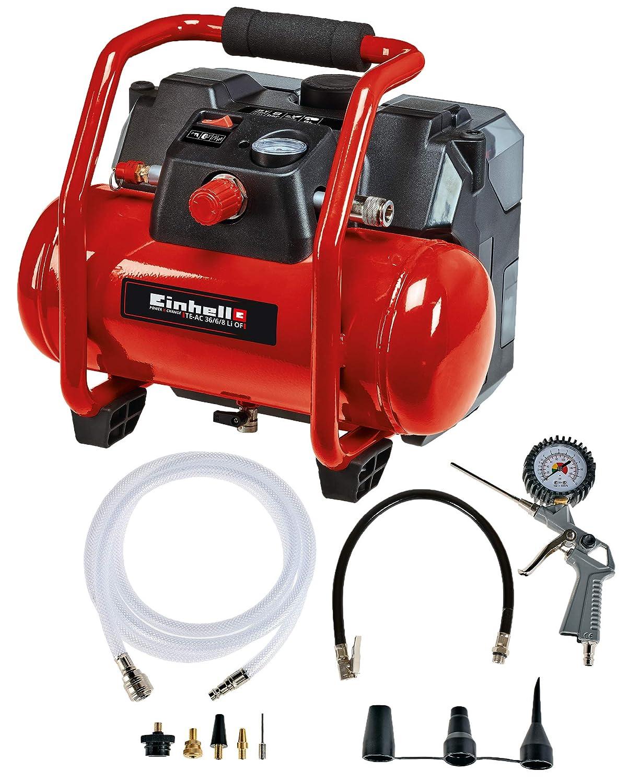 Einhell 4020450 Compresor con bater/ía Rojo Negro