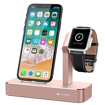 Ivapo Station Pour Apple Watch Iphone 2 En 1 Aluminum Support Pour Apple Watch Series 3 Apple Watch Series 2 Apple Watch Series 1 Apple Watch Nike