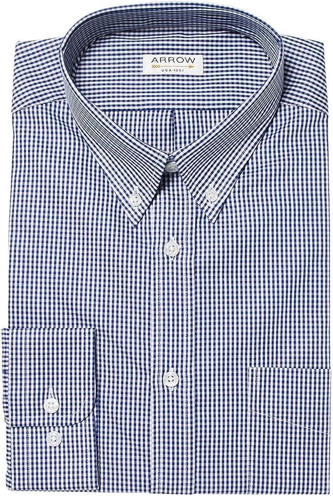 Casa Moda-Casual Fit-popeline Uomo Camicia A Quadri Con Button Down Colletto in