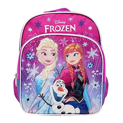 Disney Frozen Toddler Backpack - Small 10 inch Backpack - Snowflakes | Kids' Backpacks