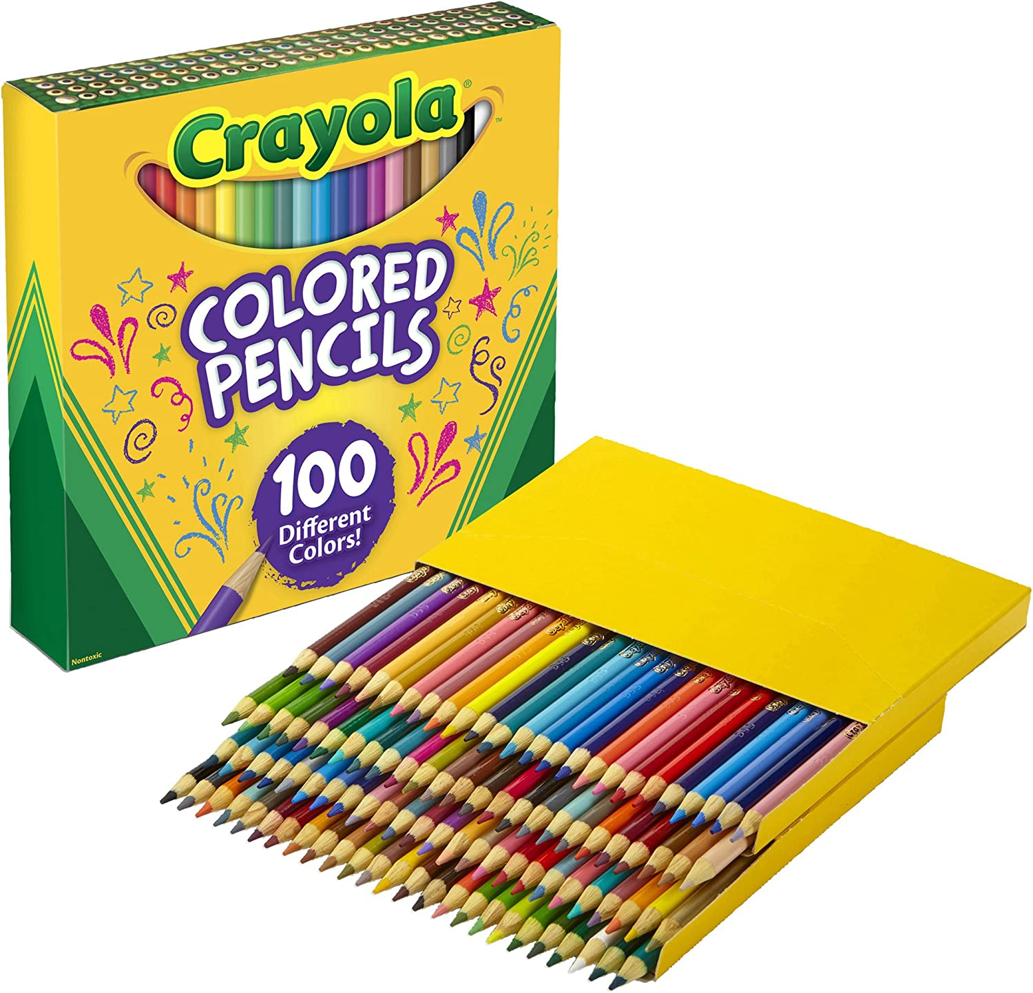 Crayola Colored Pencils Adult Coloring Set, Gift, 100 Count: Toys & Games