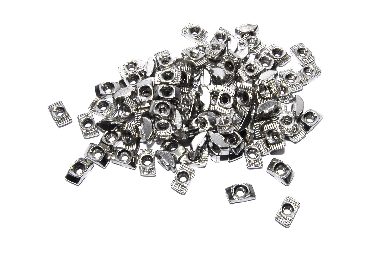 100 piezas M3 T tuerca CNC 2020 marco aluminio impresora 3D plata ...