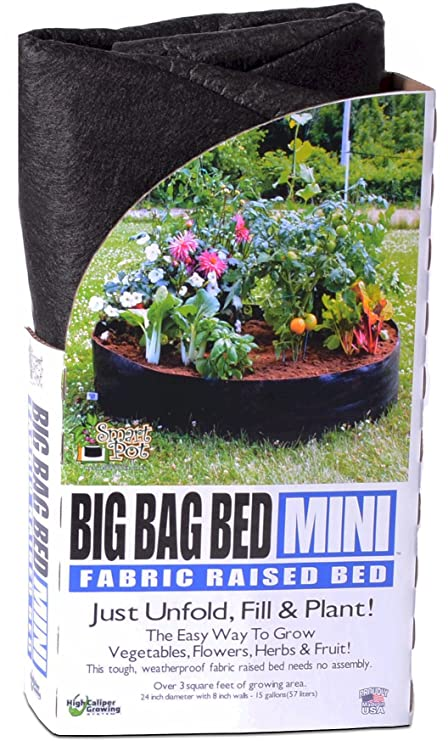 Smart Pots 12015 Big Bag Bed Fabric Raised Planting Bed, Mini
