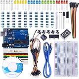 STARTO Arduino Starter Kit UNO R3 Tarjeta Breadboard Sensor Cable de Puente 1 dígito 7 segmentos Tarjeta de Resistencia de Pantalla con tutoriales gratuitos SUA002