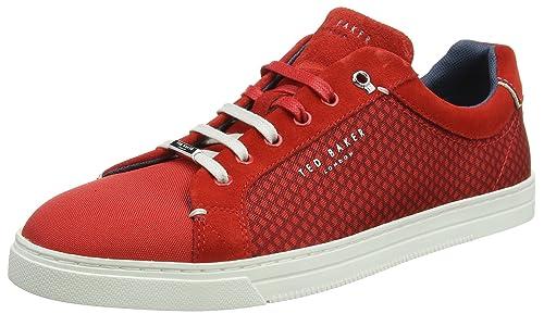 Ted Baker Phranco, Zapatillas para Hombre, Rojo (Dark Red), 46 EU