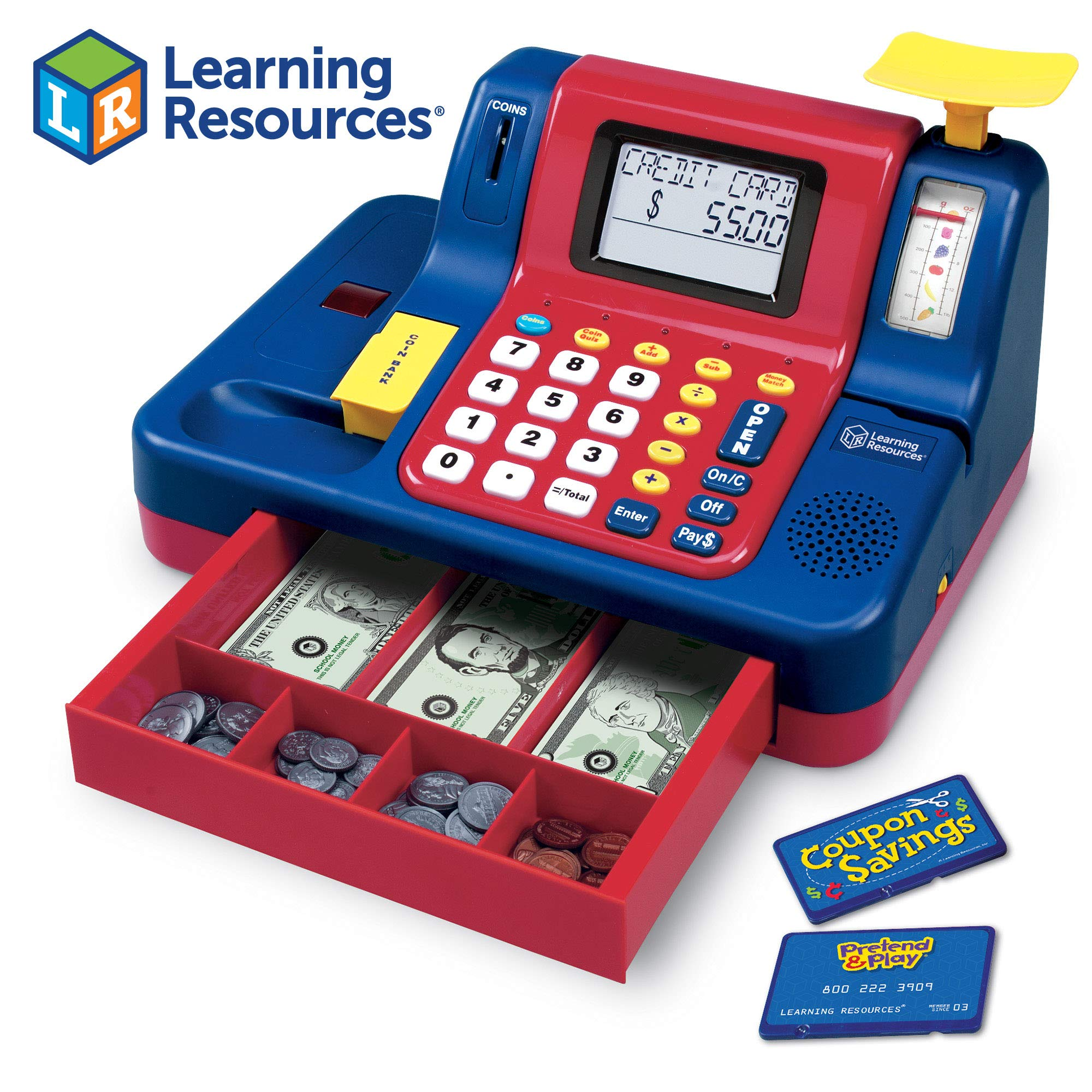 Learning Resources Pretend & Play Teaching Cash Register [Standard Packaging] by Learning Resources