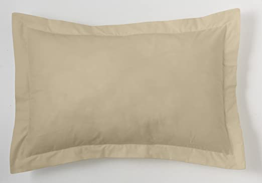 ESTELA - Funda de cojín Combi Lisos Color Camel - Medidas 50x75+5 cm. - 50% Algodón-50% Poliéster - 144 Hilos - Acabado en pestaña: Amazon.es: Hogar