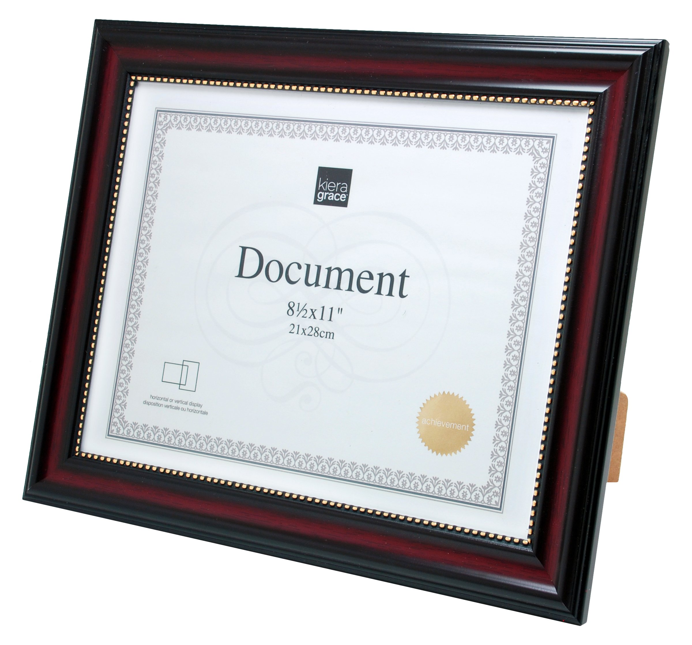Kiera Grace Lucy Document Frame, 8.5 by 11-Inch, 12 Pack, Dark Brown with Gold Beading