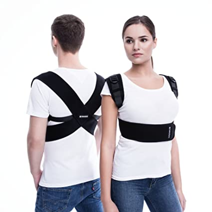 Corrector de Postura Ajustable para Hombres y Mujeres (Uso Médico): Inmovilizador de Clavícula para Soporte de Espalda - Corrección de Postura Y ...