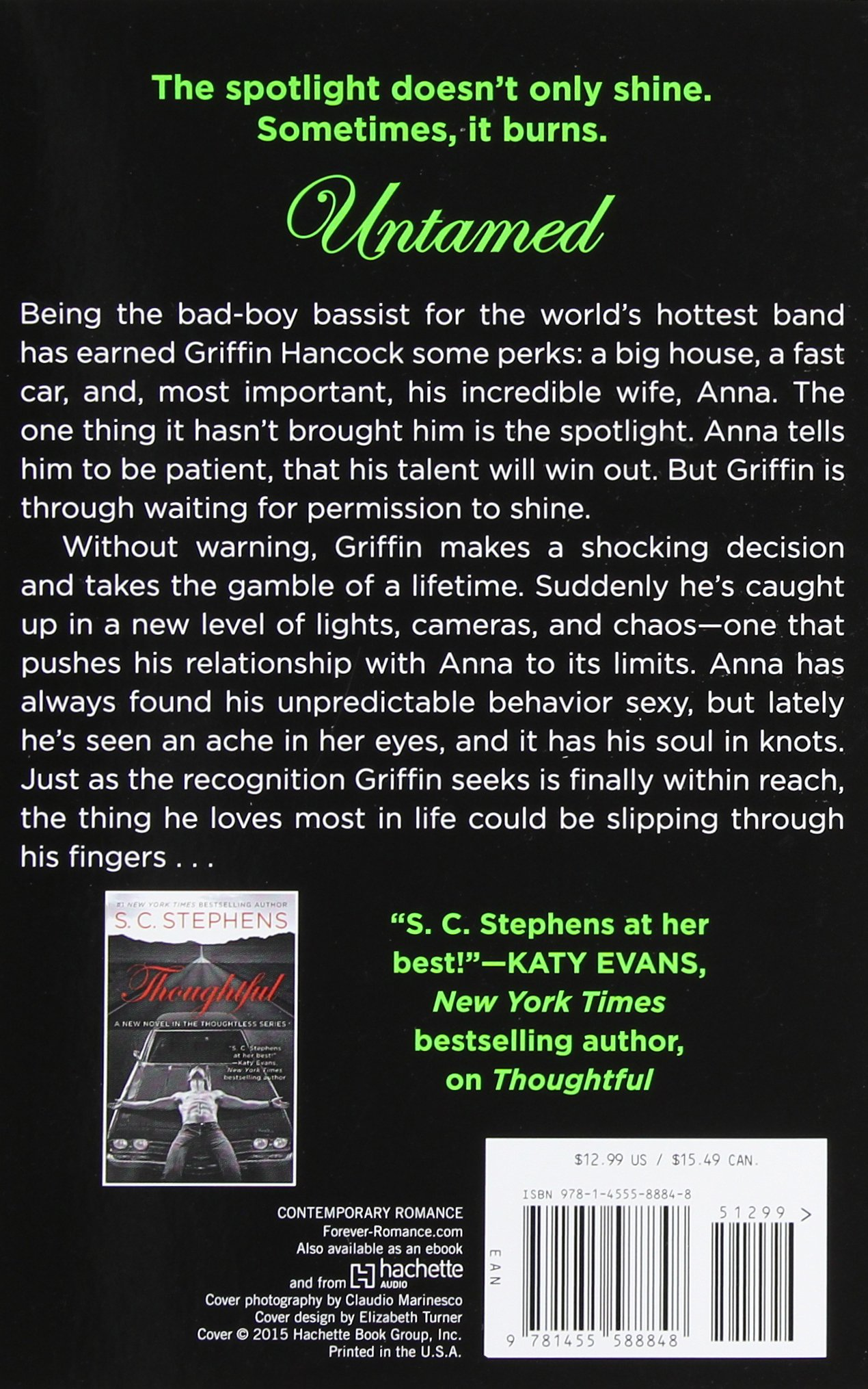 Untamed (a Thoughtless Novel): S C Stephens: 9781455588848: Amazon:  Books