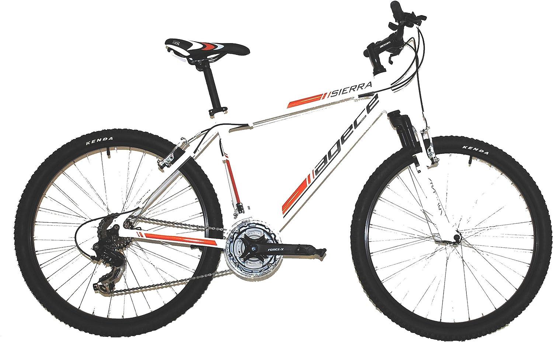 Agece Sierra Bicicleta, Hombre, Blanco/Naranja, 16