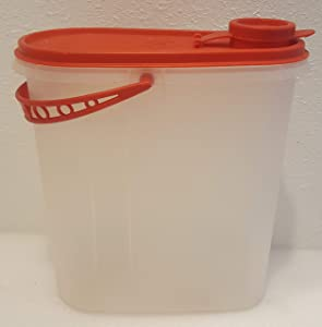 Vintage Tupperware Beverage Buddy 2 Quart Sheer with a Red Handle 587