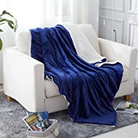 JML Throw Blanket, Sherpa Throw Blanket Couch, Plush Soft Warm, Reversible Plush Fleece Bed Couch Blanket