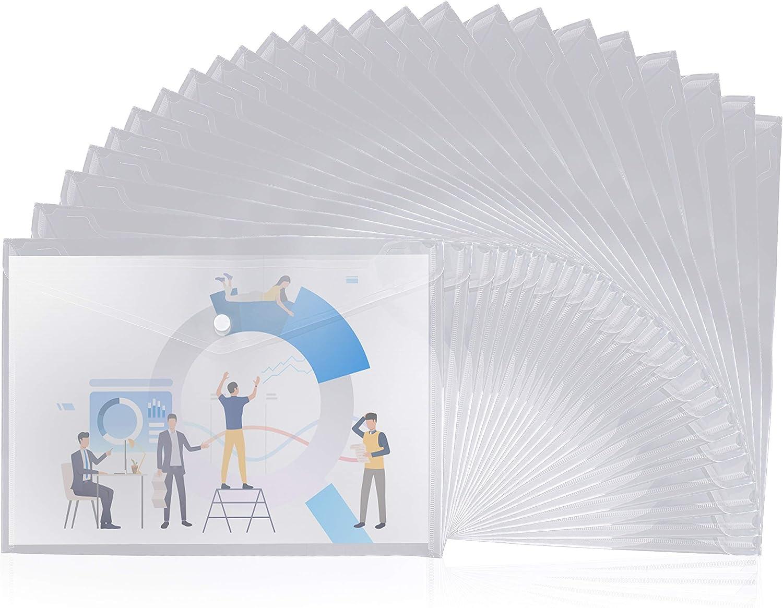 Carpetas Plastico (Pack de 30) - A4, Color Transparente Claro ...