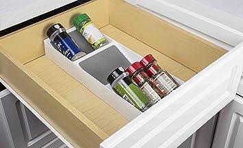 Home Basics 3 Etagen Gewürzregal Schublade Organizer Amazonde