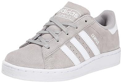 adidas Originals Campus 2 C Basketball Shoe (Little Kid), Grey/White,