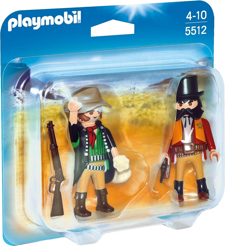 PLAYMOBIL Duo Pack - Sheriff y Bandido, Figuras (5512): Amazon.es ...