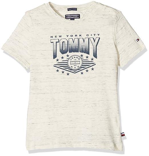 Tommy Hilfiger Ame Tommy Cn tee S/s Camiseta, Gris (White Grey Heather B1d203 Vol. 46 122), 116 para Niños: Amazon.es: Ropa y accesorios