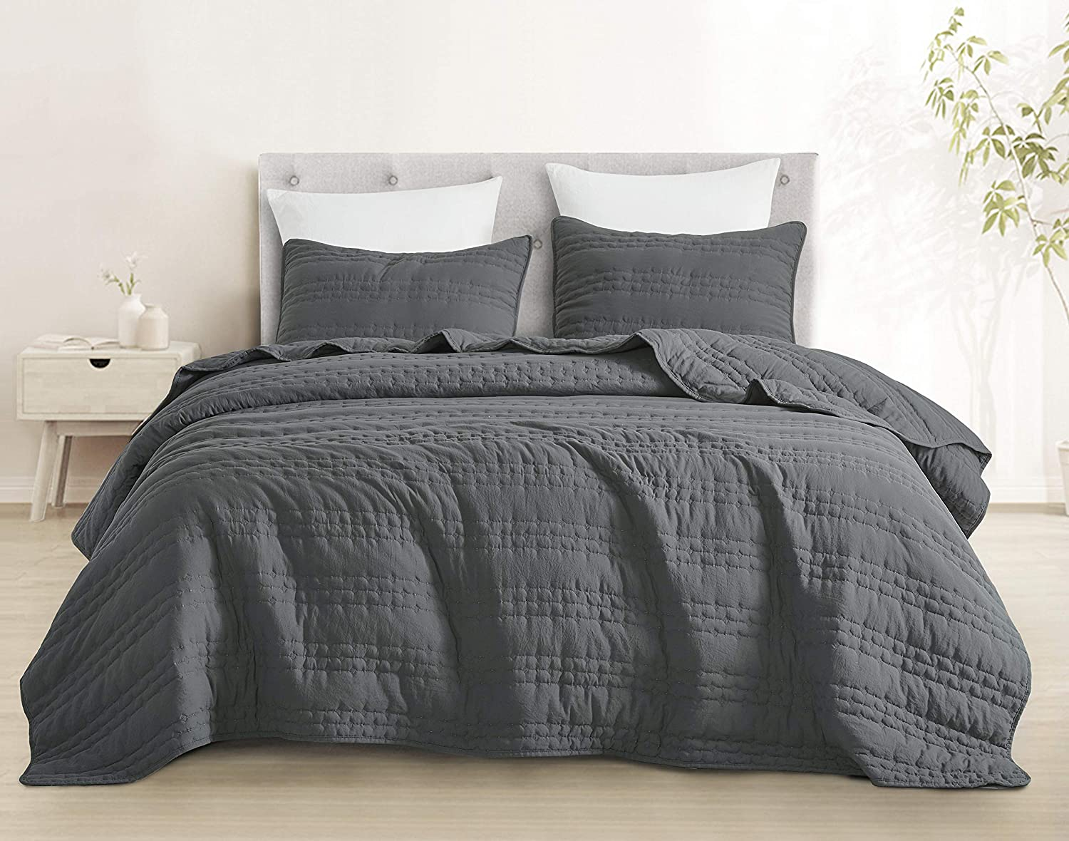 SupraSoft Stonish Stonewashed Set Quilt 100% OFFicial mail order quality warranty