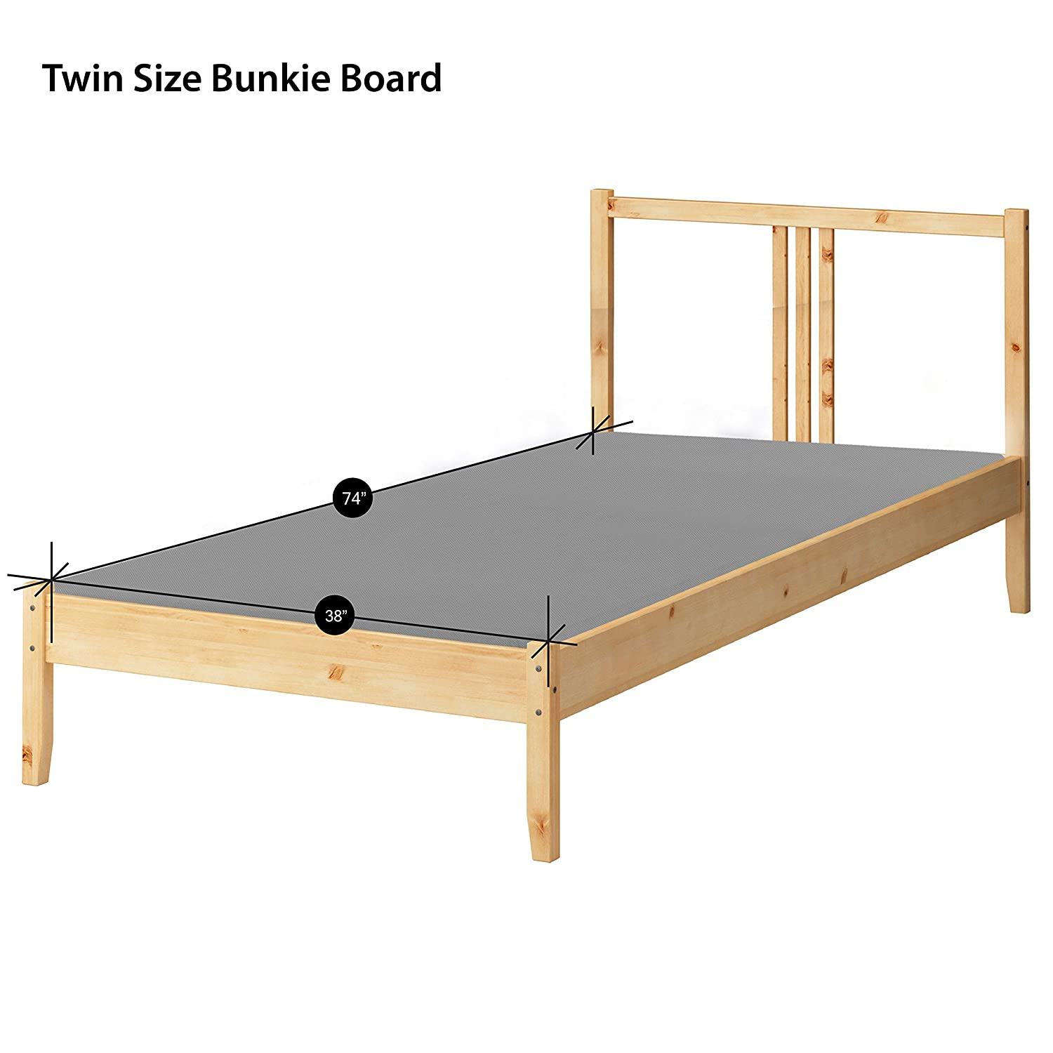 """Amazon Spinal Solution Fully Assembled 1 5"""" Foundation Bunkie"""