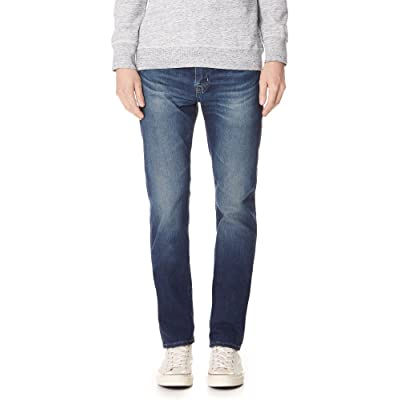 AG Adriano Goldschmied Men's Matchbox Slim Straight Leg Led Denim: Clothing