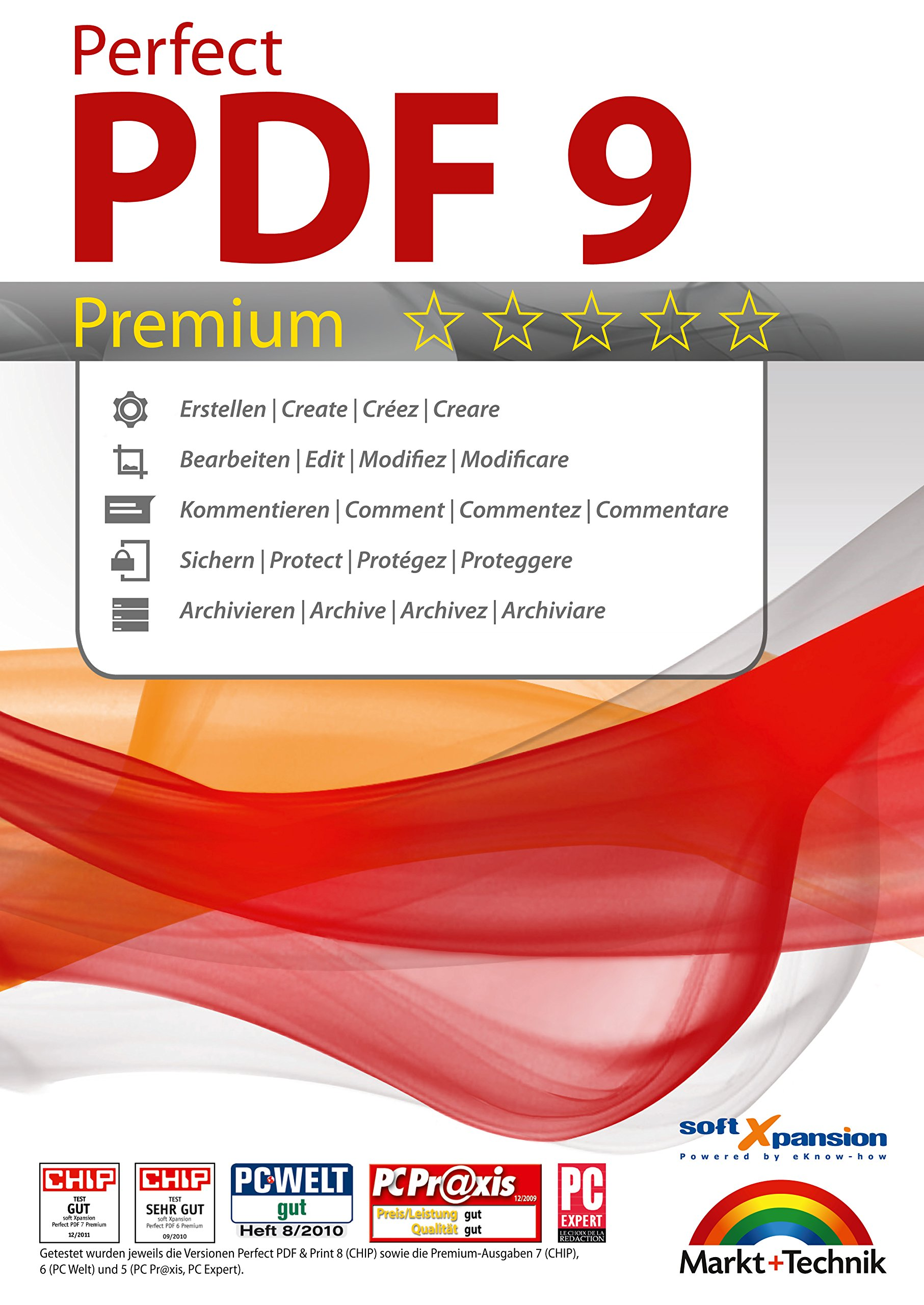 Perfect PDF 9 Premium - Create, Edit, Convert, Protect, Add Comments to, Insert Digital Signatures in PDFs with the OCR Module | 100% Compatible with Adobe Acrobat by Markt+Technik