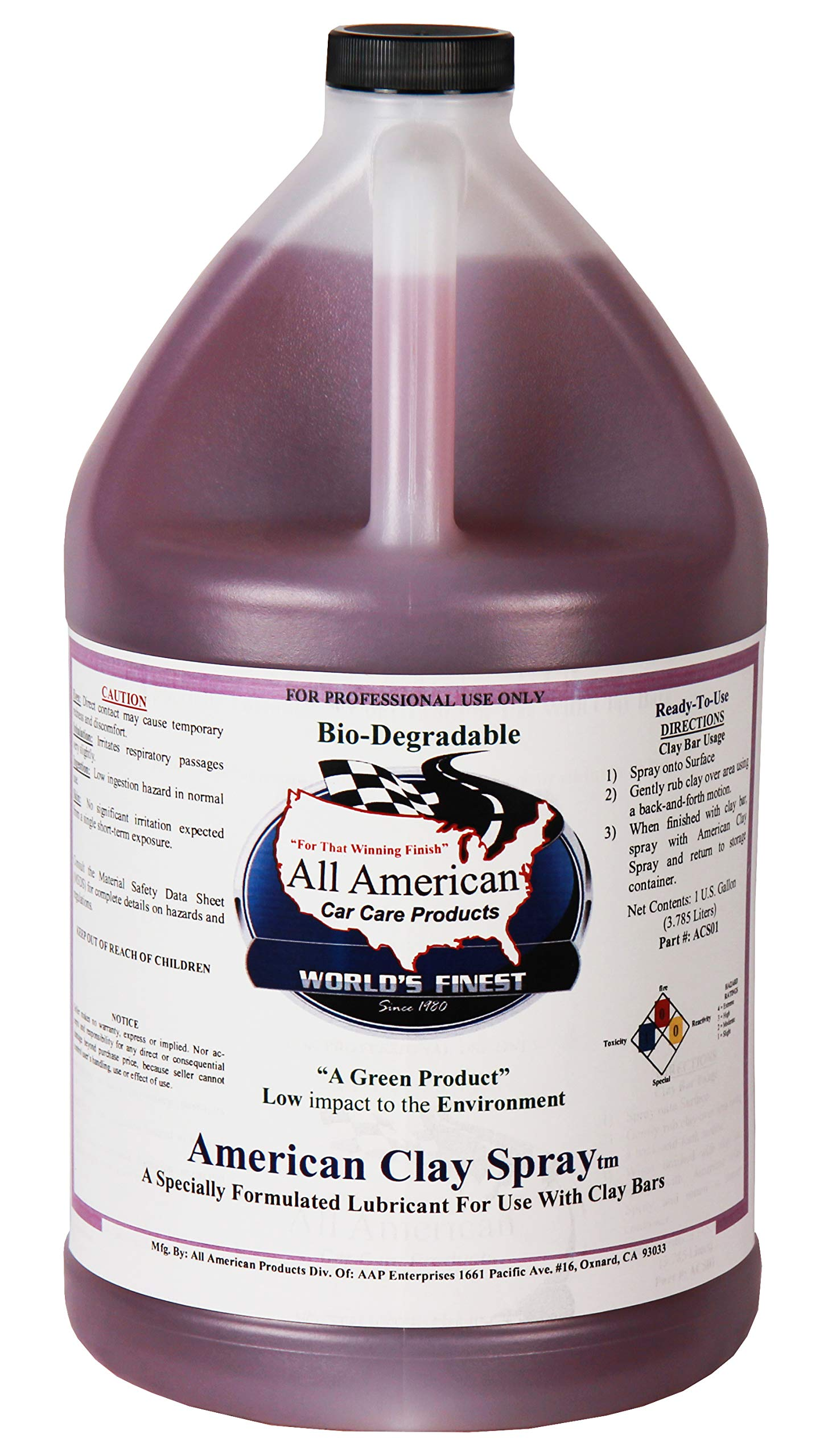 All American Car Care Products American Clay Spray (1 Gallon)