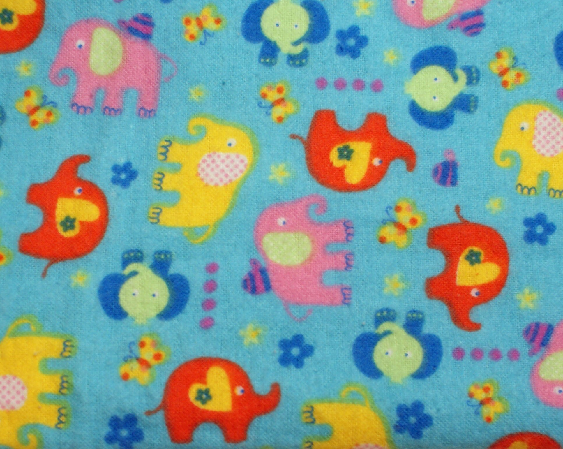 Pocket-2in1-Sheet Elephants Pattern with Yellow Flannel 2 in 1 Patented No Slip Reversible Pack n Play Play Yard Fitted Sheet Cover or Day Care Mini Crib Mattress Sheet