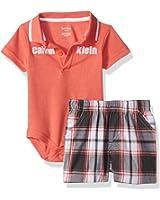 Calvin Klein Baby Boys' 2 Pieces Set-Plaid Shorts