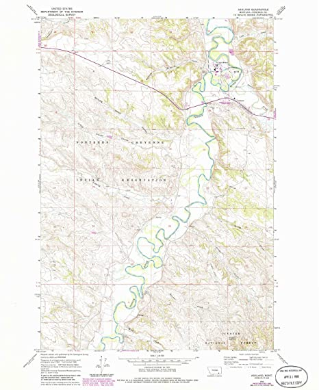 Ashland Montana Map.Amazon Com Yellowmaps Ashland Mt Topo Map 1 24000 Scale 7 5 X