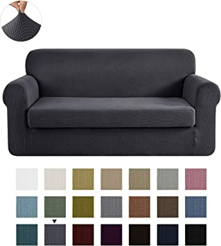 CHUN YI Stretch Sofa Slipcover 2-Piece Couch Cover Furniture Protector - Powerful Cover for Various Furniture