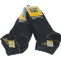 Caterpillar - Calcetines de trabajo de Algodón para hombres, reforzados en el talón y la punta, 6 Pares