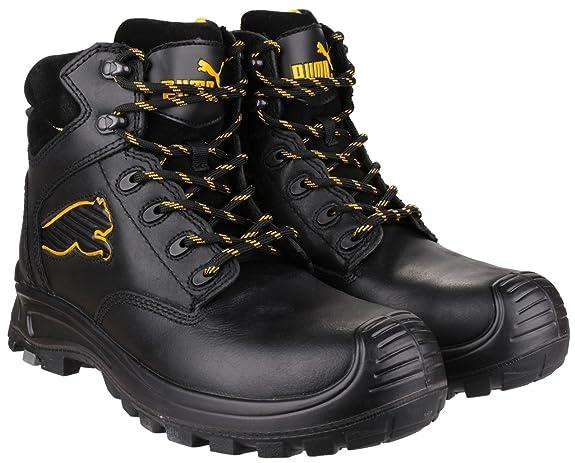 Puma Borneo mediados Mens seguridad trabajo arranque negro - 41: Amazon.es: Zapatos y complementos