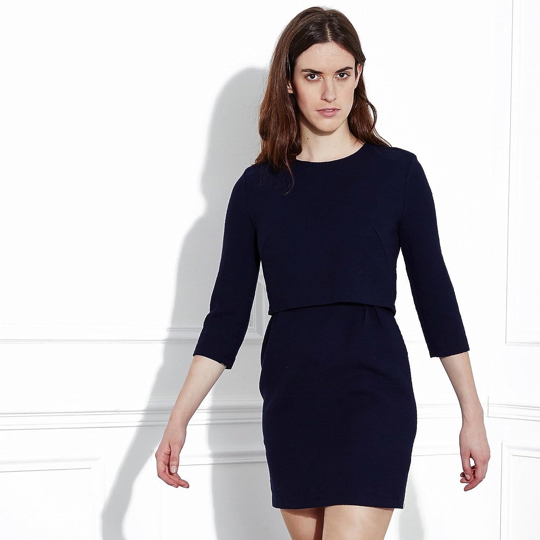 ef2b2d51250 Louis Antoinette Paris Kit couture Robe La Parisienne Coton Bleu Nuit   Amazon.fr  Cuisine   Maison