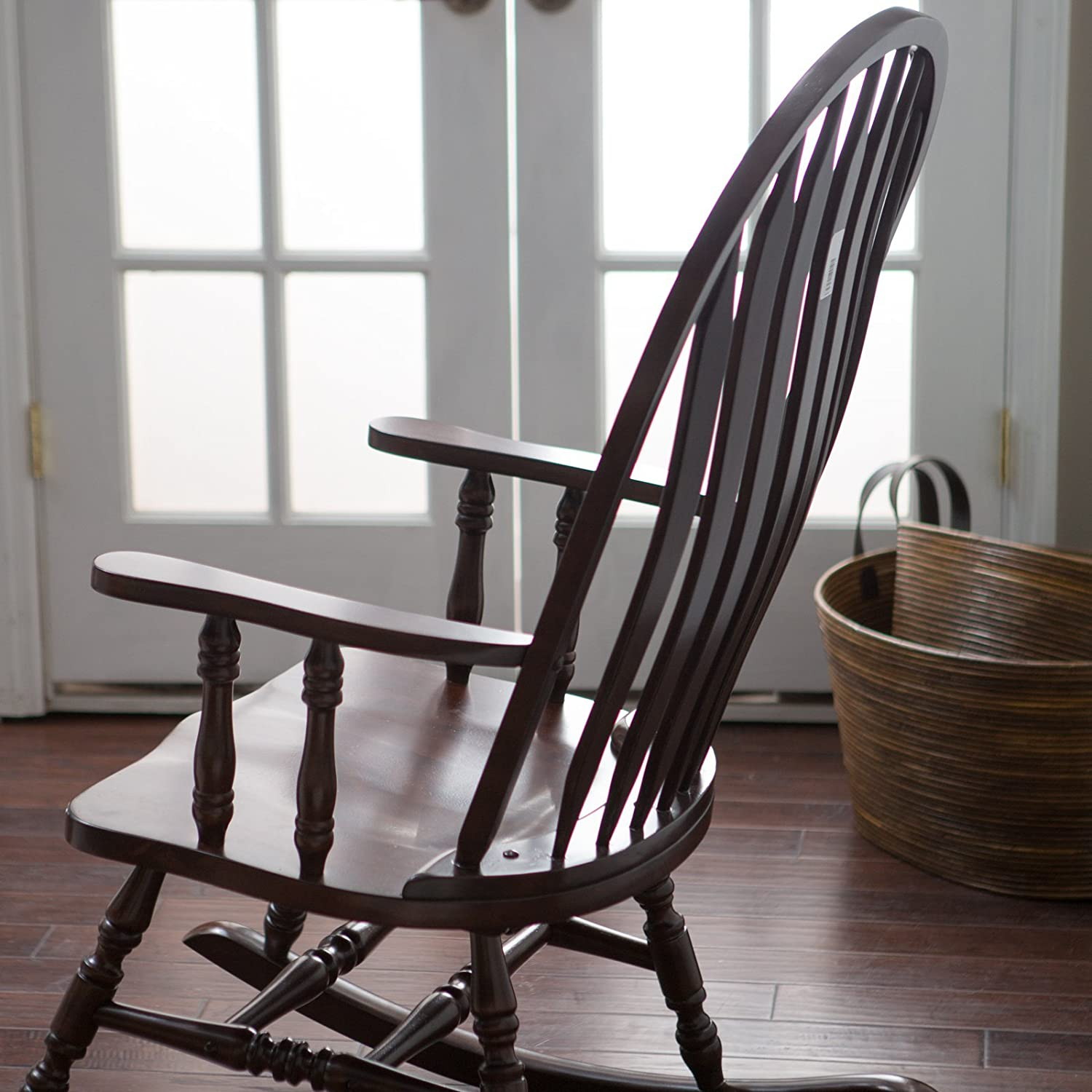 Amazon Belham Living Windsor Indoor Wood Rocking Chair