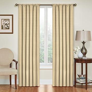 Amazon.com: Eclipse Kendall Blackout Thermal Curtain Panel,Café,63 ...