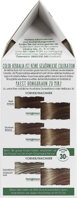 Garnier Color Herbalia - Tinte para el cabello 100% vegetal con henna, índigo y cassia, coloración natural, vegano, 3 unidades (3 x 164 g)