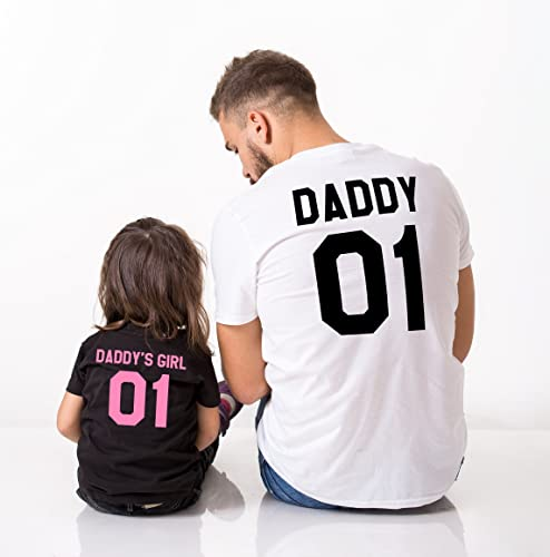 64c3299d Image Unavailable. Image not available for. Color: Daddy Daddy's Girl 01  Father Daughter Shirts