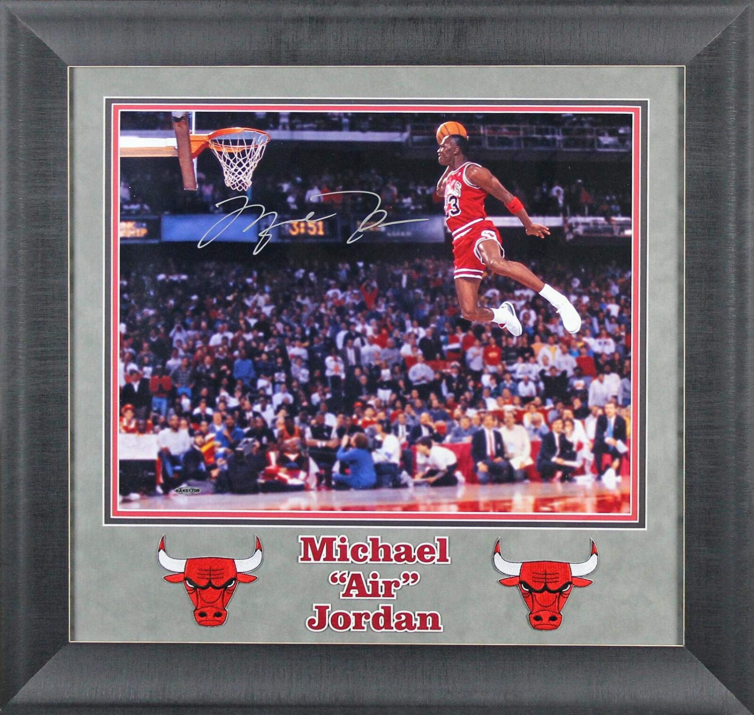 Bulls Michael Jordan Authentic Signed 16x20 Framed Photo UDA & BAS #A39462
